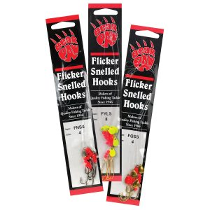 Flicker Snelled Hooks
